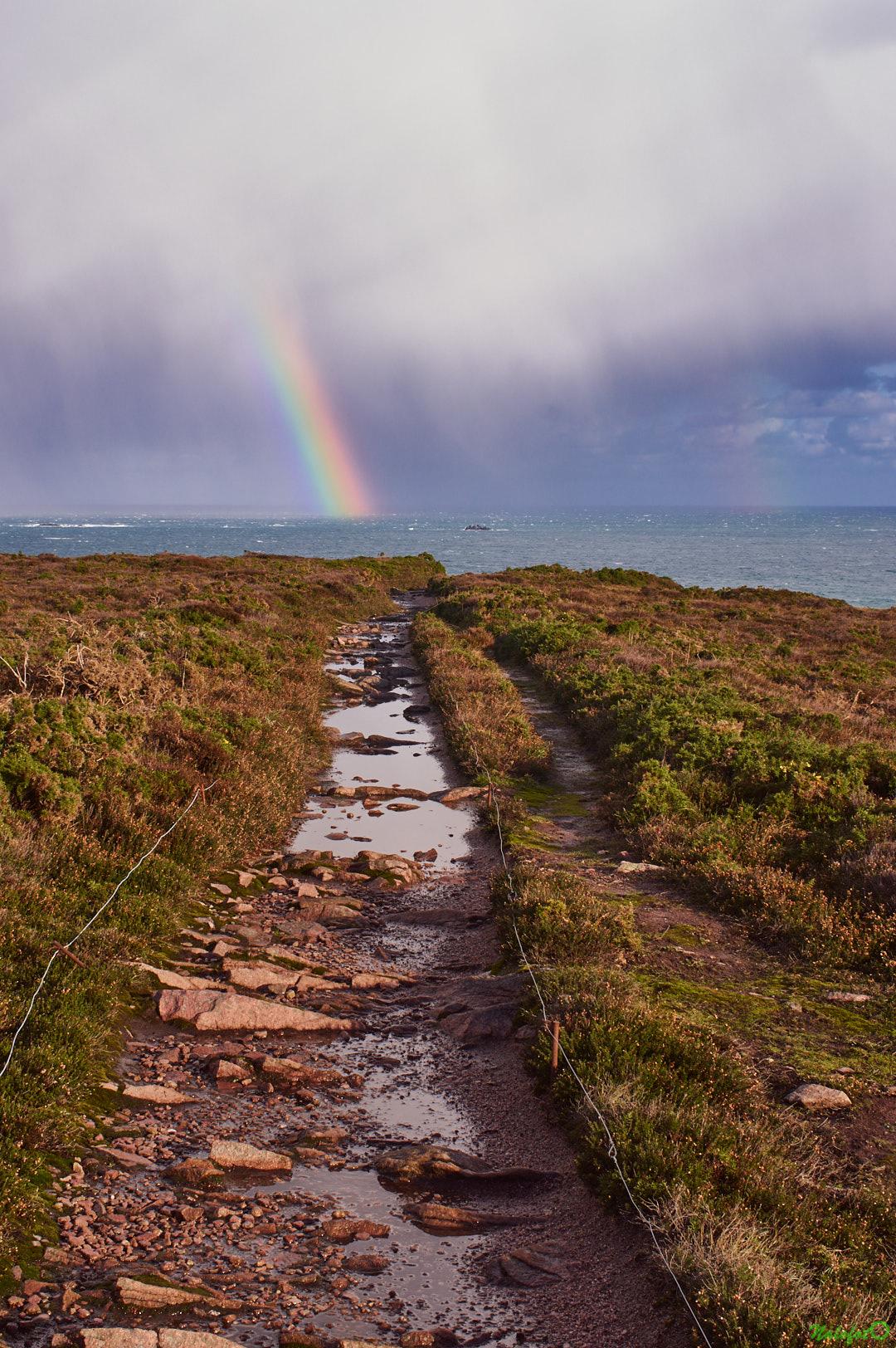 Arc en ciel sur le GR 34 au Cap d Erquy