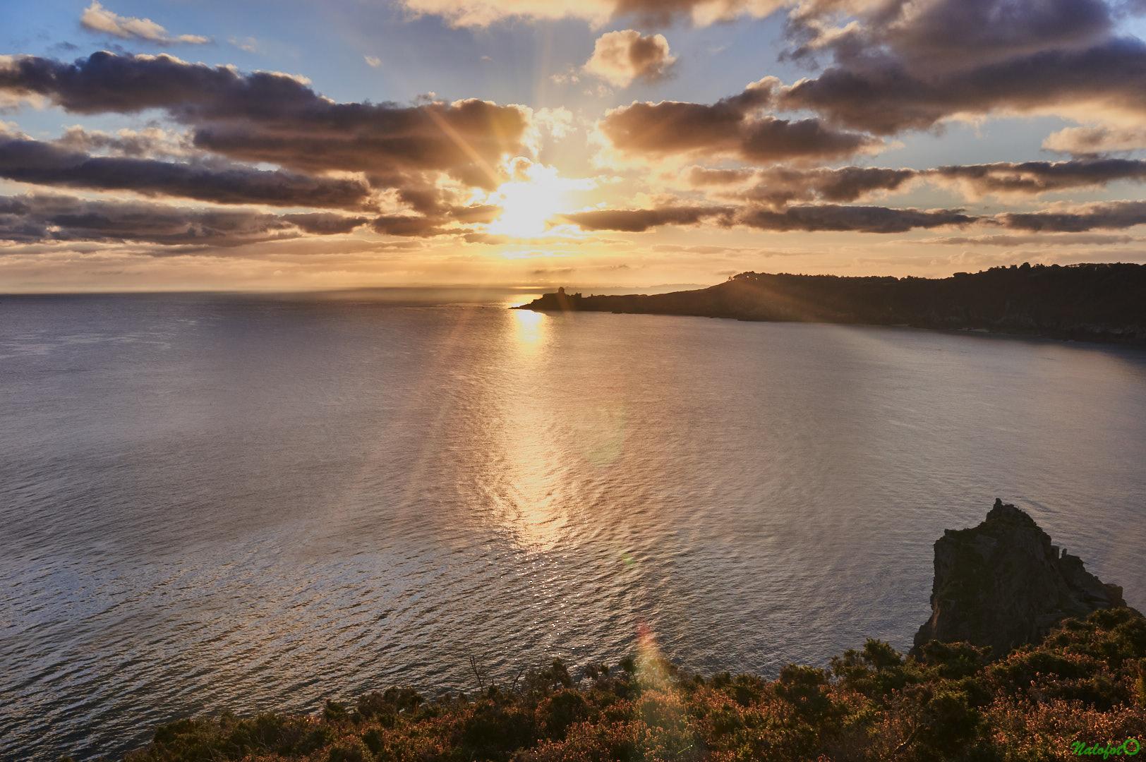 Lever de soleil sur l'anse des Sévignés et le Fort La Latte - la Roche Goyon