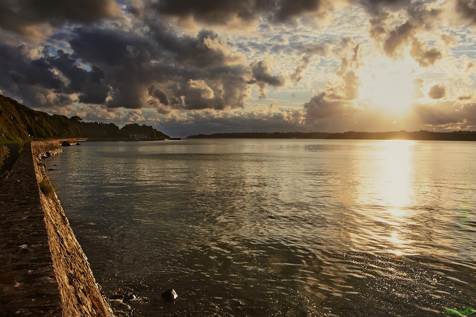 Lever de soleil sur la baie de la Fresnaye, Fréhel