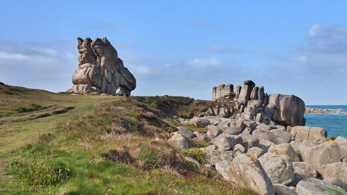 Rochers extraordinaires sur le GR 34 près de Plouescat