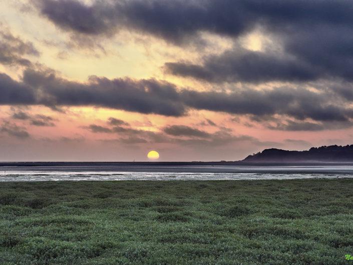 Lever de soleil mai 2018 dans la baie de la Fresnaye