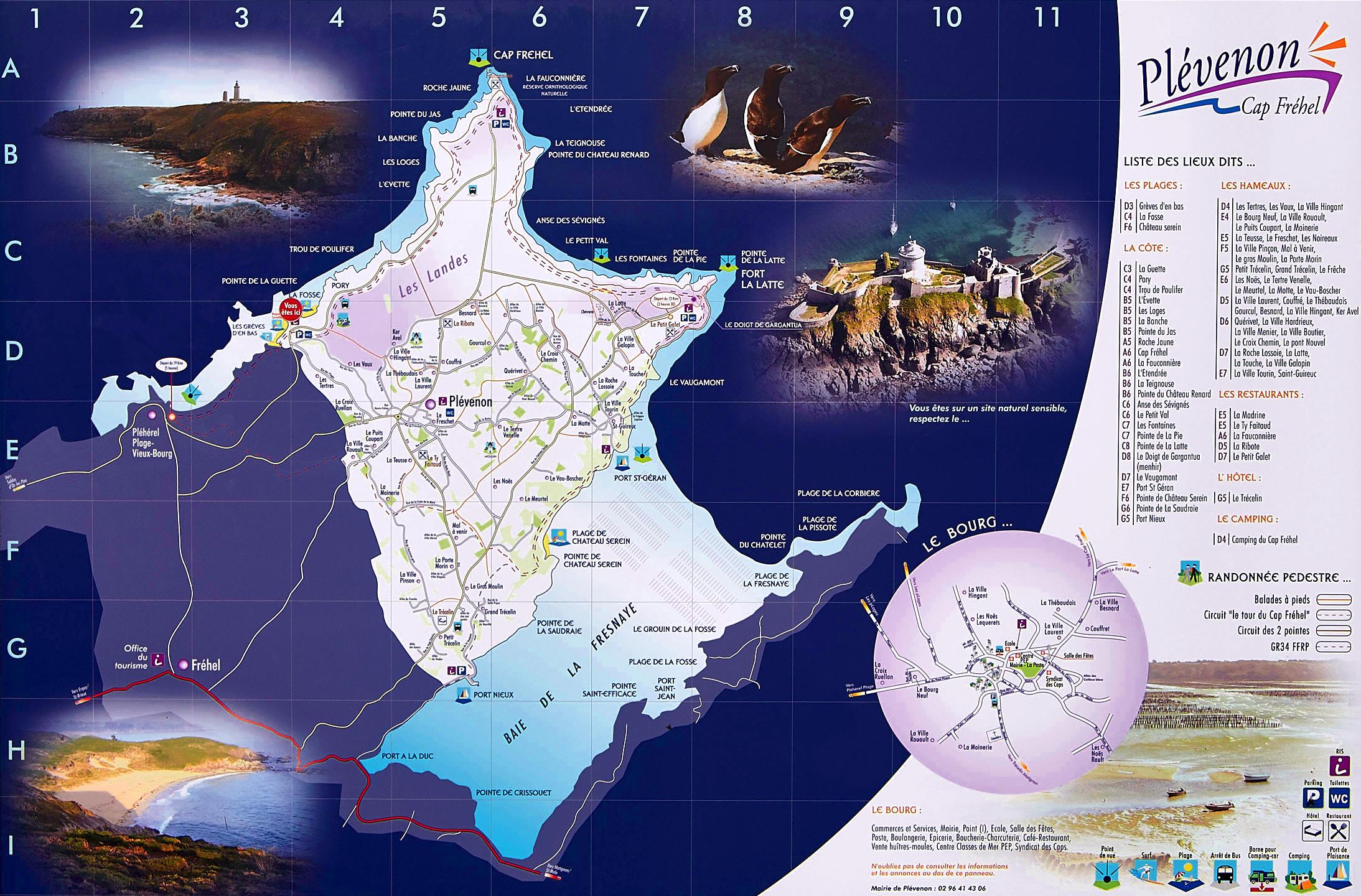 Carte de la presqu'île du cap Fréhel