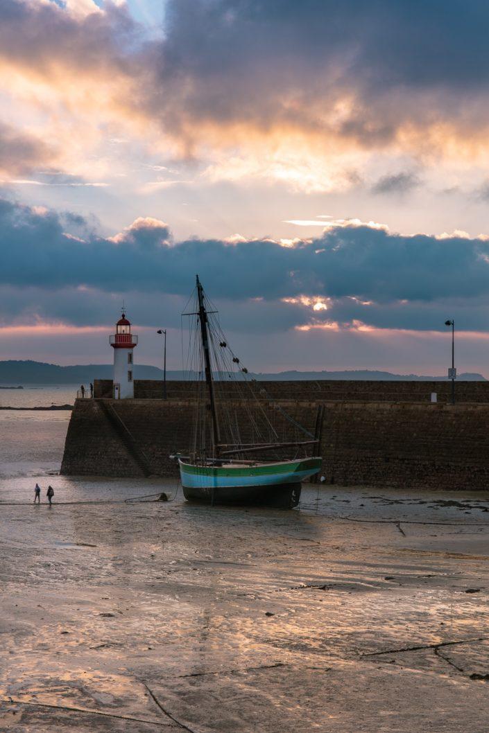 Port d'Erquy en fin d'après midi