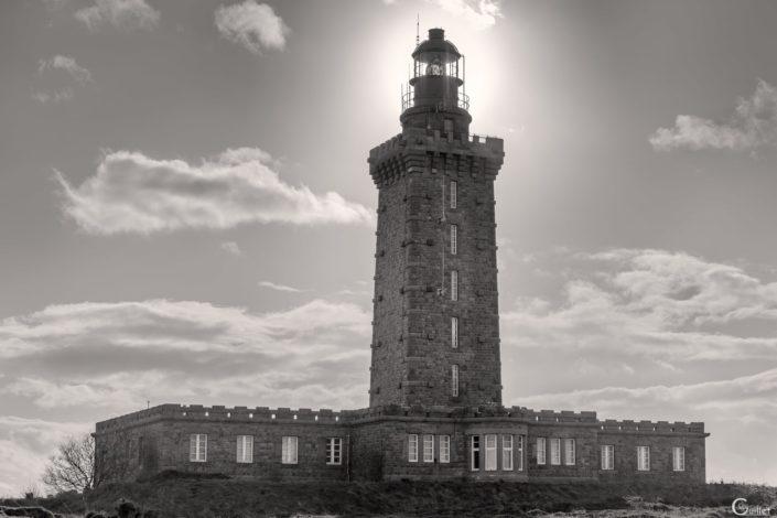 le phare du Cap Fréhel en noir et blanc