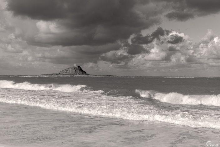 îlot St Michel en noir et blanc