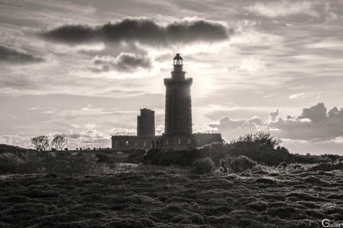 Phare du Cap Fréhel en noir et blanc