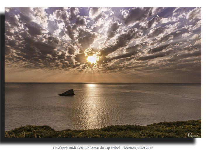 Tableau fin d'après midi à l'Amas du Cap