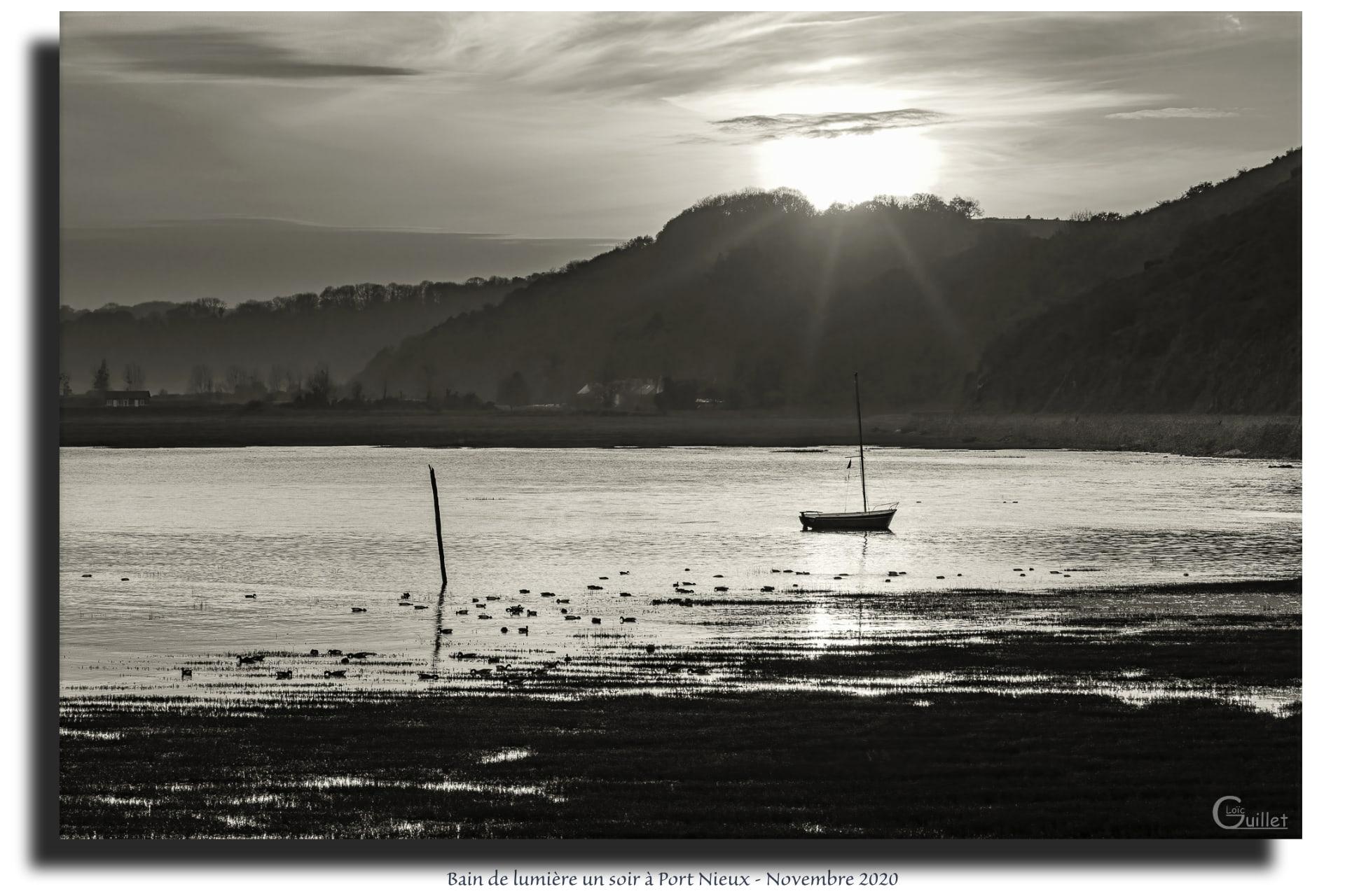 Coucher de soleil à Port Nieux