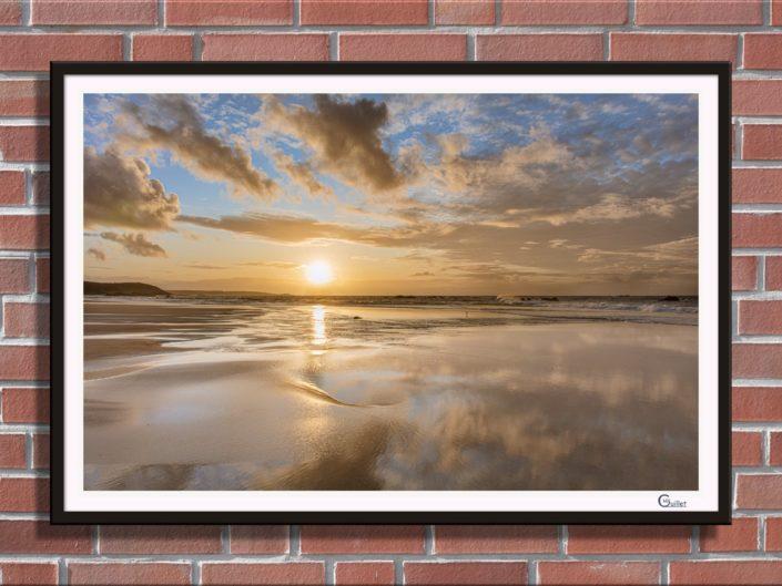 Impression photos : Tableau encadré coucher de soleil aux Grèves d'en Bas