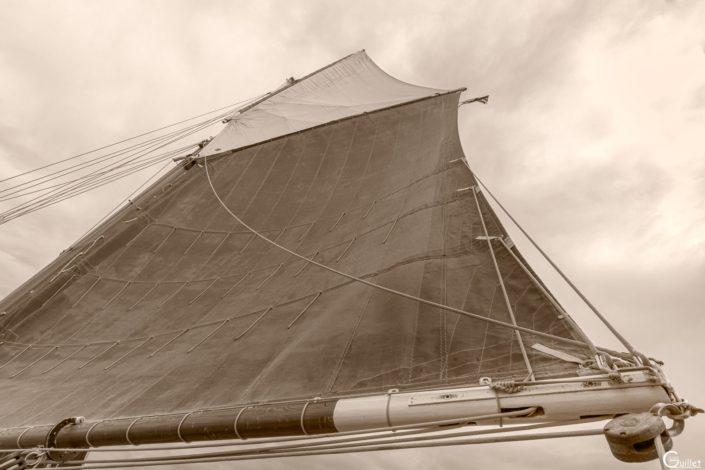 découverte des 7 iles - grand voile du voilier Sant C'hireg