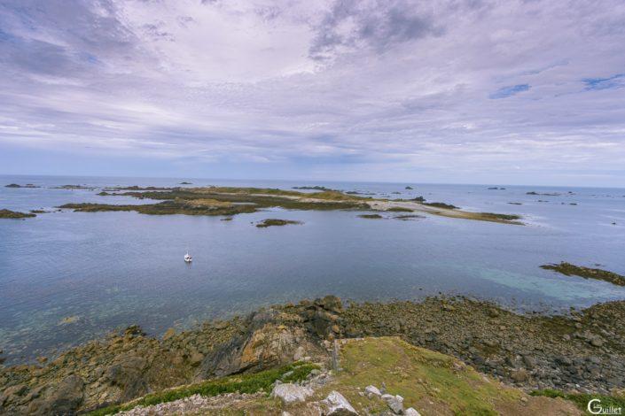 découverte des 7 iles - l'île plate vue du Fort de l'île aux Moines