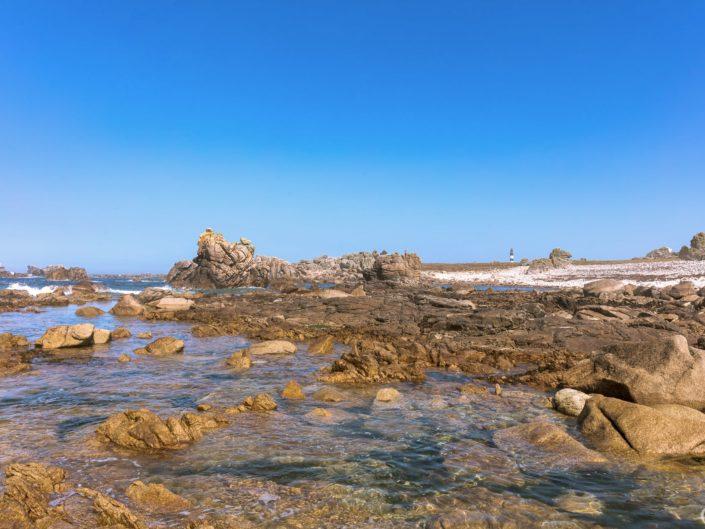 Ciel bleu et mer calme à Ouessant