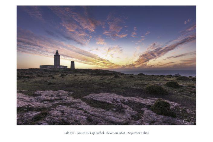coucher de soleil sur le Cap Fréhel