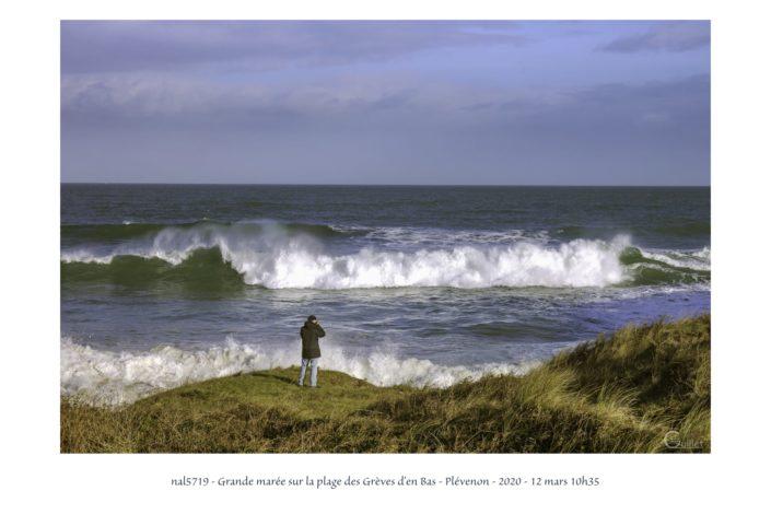 nal5719 grande marée sur la plage des Grèves d'en Bas