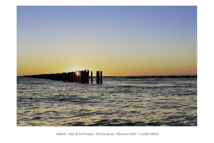 nal6631 lever de soleil dans la baie de la Fresnaye