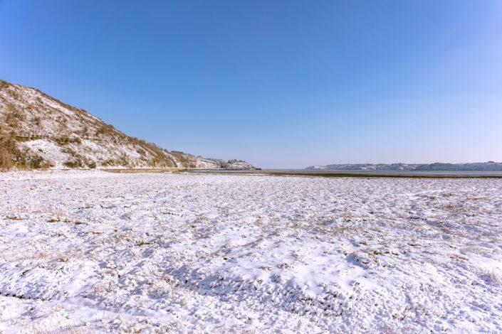 Baie de le Fresnaye au Port à la Duc sous la neige