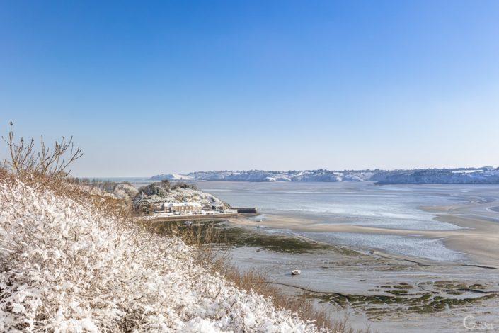 Baie de le Fresnaye à Port Nieux sous la neige