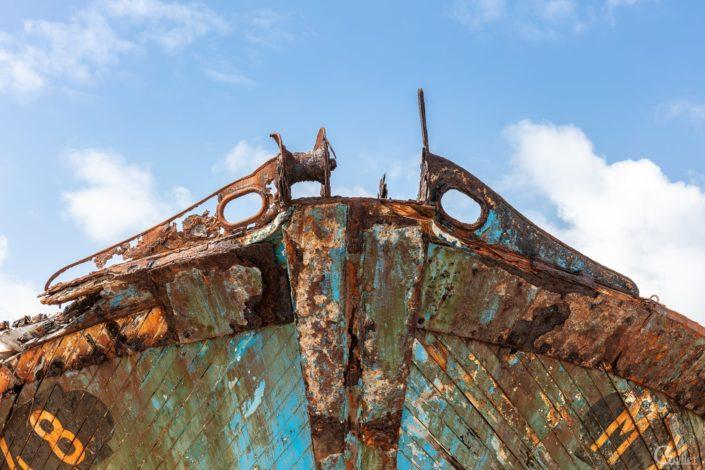 Crozon : Nez d'épave de bateau à Camaret sur mer